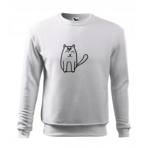 Mikina Essential - Tučňák a jeho kamarádi - #11 kočka domácí, vel. 12 let - bílá - Cena : 449,- Kč s dph