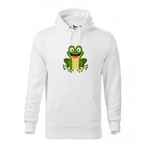 Pánská Mikina Cape - Veselá zvířátka - Žabička, vel. L - bílá - Cena : 599,- Kč s dph