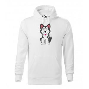 Pánská Mikina Cape - Veselá zvířátka - Husky, vel. XL - bílá - Cena : 599,- Kč s dph