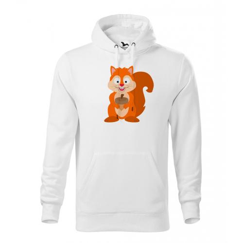 Pánská Mikina Cape - Veselá zvířátka - Veverka, vel. M - bílá - Cena : 599,- Kč s dph