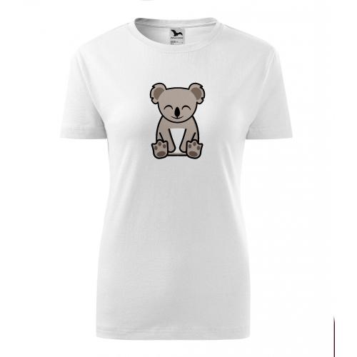 Dámské Tričko Classic New - Tučňák a jeho kamarádi - #14 koala medvídkovitý, vel. M - bílá - Cena : 129,- Kč s dph