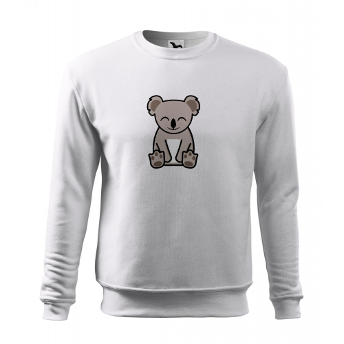 Mikina Essential - Tučňák a jeho kamarádi - #14 koala medvídkovitý, vel. 2XL - bílá - Cena : 399,- Kč s dph