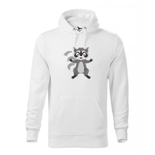 Pánská Mikina Cape - Veselá zvířátka - Mýval, vel. XL - bílá - Cena : 599,- Kč s dph