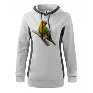 Mikina Kangaroo - Malovaná zvířátka - Papoušek, vel. L - bílá - Cena : 379,- Kč s dph