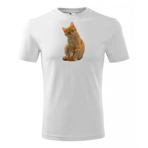 Pánské Tričko Classic New - Malovaná zvířátka - Kočička, vel. S - bílá - Cena : 249,- Kč s dph