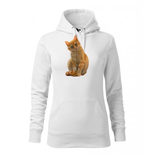 Dámská Mikina Cape - Malovaná zvířátka - Kočička, vel. S - bílá - Cena : 599,- Kč s dph