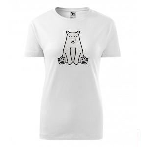 Dámské Tričko Classic New - Tučňák a jeho kamarádi - #13 medvěd lední, vel. L - bílá - Cena : 129,- Kč s dph