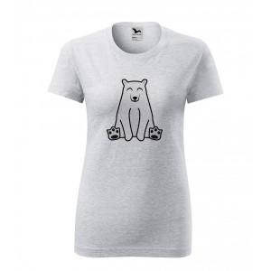 Dámské Tričko Classic New - Tučňák a jeho kamarádi - #13 medvěd lední, vel. S - šedý melír - Cena : 139,- Kč s dph