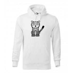Pánská Mikina Cape - Tučňák a jeho kamarádi - #20 levhart sněžný, vel. M - bílá - Cena : 649,- Kč s dph
