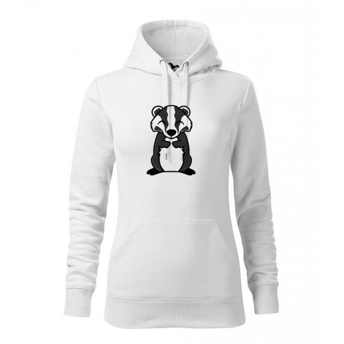 Dámská Mikina Cape - Tučňák a jeho kamarádi - #21 jezevec lesní, vel. M - bílá - Cena : 599,- Kč s dph