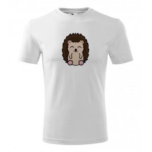 Pánské Tričko Classic New - Tučňák a jeho kamarádi - #26 ježek západní, vel. XL - bílá - Cena : 129,- Kč s dph