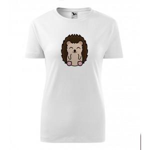 Dámské Tričko Classic New - Tučňák a jeho kamarádi - #26 ježek západní, vel. S - bílá - Cena : 249,- Kč s dph