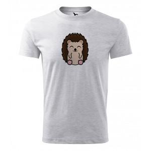 Pánské Tričko Classic New - Tučňák a jeho kamarádi - #26 ježek západní, vel. S - šedý melír - Cena : 139,- Kč s dph