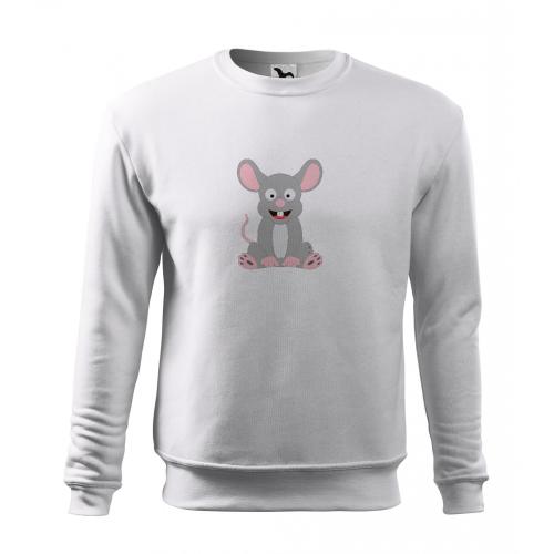 Mikina Essential - Veselá zvířátka - Myška, vel. 12 let - bílá - Cena : 399,- Kč s dph