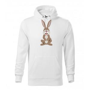 Pánská Mikina Cape - Veselá zvířátka - Zajíček, vel. M - bílá - Cena : 599,- Kč s dph
