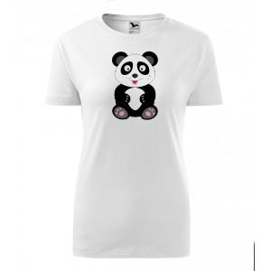 Dámské Tričko Classic New - Veselá zvířátka - Panda, vel. L - bílá - Cena : 249,- Kč s dph