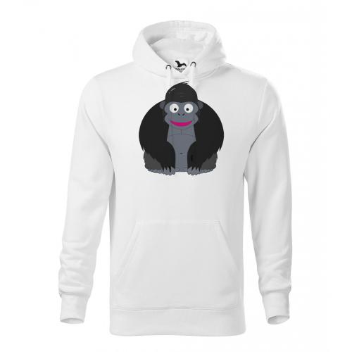 Pánská Mikina Cape - Veselá zvířátka - Gorila, vel. 2XL - bílá - Cena : 649,- Kč s dph