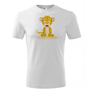 Pánské Tričko Classic New - Veselá zvířátka - Leopard, vel. S - bílá - Cena : 249,- Kč s dph