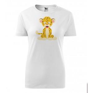 Dámské Tričko Classic New - Veselá zvířátka - Leopard, vel. S - bílá - Cena : 249,- Kč s dph