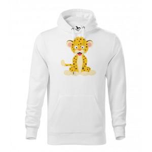 Pánská Mikina Cape - Veselá zvířátka - Leopard, vel. M - bílá - Cena : 649,- Kč s dph
