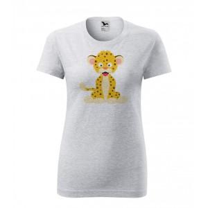 Dámské Tričko Classic New - Veselá zvířátka - Leopard, vel. S - šedý melír - Cena : 249,- Kč s dph