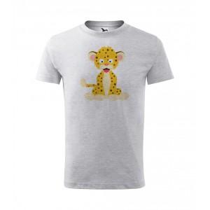 Dětské Tričko Classic New - Veselá zvířátka - Leopard, vel. 6 let - šedý melír - Cena : 249,- Kč s dph
