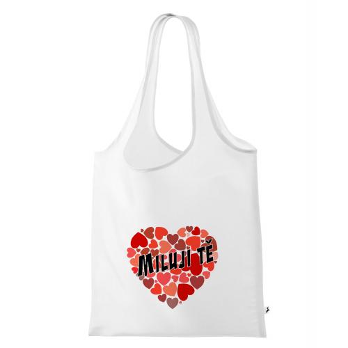 Nákupní taška Valentýn - Miluji Tě #4 - Cena : 79,- Kč s dph